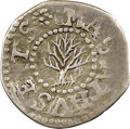 Colonials, 1652 Oak Tree Threepence, No IN on Obverse, XF45 NGC. CAC. Noe-27.1.1, W-300, Salmon 5-Aii, R.5. ...