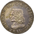 Colonials, (1659) 6PENCE Maryland Lord Baltimore Sixpence, Small Bust, MULTILICAMINI, Hodder 2-D, W-1070, High R.7, MS62 NGC....