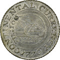 1776 $1 Continental Dollar, CURRENCY, Pewter, Newman 2-C, Breen-1092, Hodder 2-A.3, W-8455, R.3. MS63 NGC. ...(PCGS# 794...