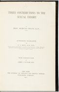 Books:Social Sciences, Freud, Sigmund. Three Contributions To The Sexual Theory.New York: Journal Of Nervous And Mental Disease, 1910. 8vo...