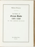 Books:Reference & Bibliography, [Bibliography] Proctor, Robert. An Index of German Books1501-1520 In The British Museum. London: Holland Press [Ke...