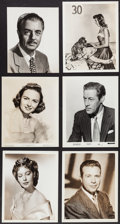 Movie Posters:Miscellaneous, Hollywood Photo Lot (Various, 1910s-1990s). Portrait and Scene Photos (150+), Gold Metallic Finished Photos (5), Fan Club Ph... (Total: 150 Items)