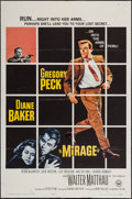 "Movie Posters:Mystery, Mirage & Other Lot (Universal, 1965). One Sheet (27"" X 41"")& Lobby Card Set of 4 (11"" X 14""). Mystery.. ... (Total: 5Items)"