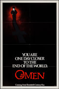 """Movie Posters:Horror, The Omen & Other Lot (20th Century Fox, 1976). One Sheet (27"""" X 41"""") & Lobby Card Set of 8 (11"""" X 14"""") Advance Style. Horror... (Total: 9 Items)"""