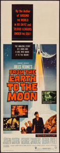 "Movie Posters:Science Fiction, From the Earth to the Moon (Warner Brothers, 1958). Insert (14"" X36""). Science Fiction.. ..."