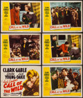 "Movie Posters:Adventure, The Call of the Wild (20th Century Fox, R-1953). Title Lobby Card& Lobby Cards (5) (11"" X 14""). Adventure.. ... (Total: 6 Items)"