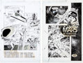 Original Comic Art:Splash Pages, Yanick Paquette and Armando Gil Space: Above And Beyond #2& 3 Splash Page Original Art Group (Topps, 1996).... (Total: 2Original Art)