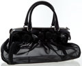 Luxury Accessories:Bags, Valentino Black Mesh & Patent Leather Tote Bag. ...