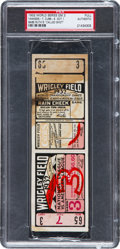 Baseball Collectibles:Tickets, 1932 World Series Game Three Babe Ruth's Called Shot Full Ticket,PSA Authentic....
