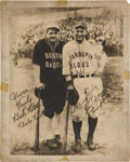Autographs:Photos, 1927-28 Babe Ruth & Lou Gehrig Dual-Signed BarnstormingPhotograph....