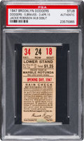 Baseball Collectibles:Tickets, 1947 Ebbets Field Opening Day Ticket Stub--Debut of JackieRobinson....
