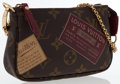 Art Glass:Daum, Louis Vuitton Monogram Stamp Canvas Mini Pochette Bag. ...