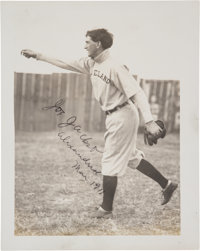 "1911 ""Shoeless Joe"" Jackson Signed Photograph from The Frank W. Smith Collection, PSA/DNA Mint 9"