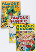 Golden Age (1938-1955):Miscellaneous, Famous Funnies #86, 88, and 100 Group (Eastern Color, 1941-42).... (Total: 3 Comic Books)