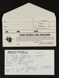 Football Collectibles:Others, 1957 Green Bay Packers Season Ticket Form, From 1st Season at Lambeau Field....