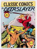 Golden Age (1938-1955):Classics Illustrated, Classic Comics #17 The Deerslayer - First Edition (Gilberton, 1944)Condition: FN+....