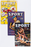 Golden Age (1938-1955):Non-Fiction, True Sport Picture Stories Group (Street & Smith, 1944-46) Condition: Average FN-.... (Total: 5 Comic Books)