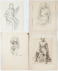 Miscellaneous:Ephemera, Garth Williams: Collection of Human Figures....