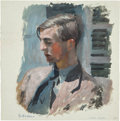 Books:Original Art, Watercolor Portrait of Denys Haynes. 1937. Signed by Williams. One horizontal folding crease to bottom margin, allowing ...