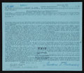 Baseball Collectibles:Others, 1974 Ted Williams Signed Loan Document....