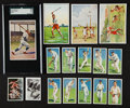 Baseball Cards:Lots, 1920's - 1940's European Sports Card Group (16) With Ruth and Tarzan! ...