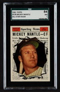Baseball Cards:Singles (1960-1969), 1961 Topps Mickey Mantle All Star #578 SGC 84 NM 7....