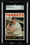 Baseball Cards:Singles (1960-1969), 1964 Topps Mickey Mantle #50 SGC 55 VG/EX+ 4.5. ...