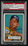 Autographs:Sports Cards, Signed 1991 East Coast National Mickey Mantle Promo PSA/DNAAuthentic. ...