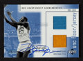 """Basketball Cards:Singles (1980-Now), 2002 UD Ovation """"1982 Championship Commemorative"""" Michael Jordan #MJCA Limited Edition Floor/Jersey and Autograph Card. ..."""
