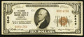 National Bank Notes:Pennsylvania, Troy, PA - $10 1929 Ty. 1 The Grange NB of Bradford County Ch. #8849. ...