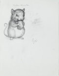 Books:Original Art, Pencil Character Design for Tucker's Countryside by GeorgeSelden. Initialed by Williams. Measures 8.5 x 11 inch...
