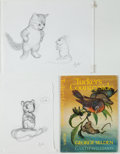 Books:Original Art, Group of Six Pencil Character Sketches for Tucker's Countryside by George Selden. Most are initialed by Willia... (Total: 6 Items)