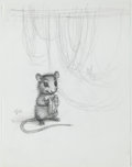 Books:Original Art, Pencil Character Design for Tucker's Countryside by George Selden. Initialed by Williams. Measures 8.5 x 11 inch...