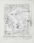 Books:Original Art, Finished Pen and Ink Illustration for Tucker's Countrysideby George Selden. Measures 13.75 x 11 inches. Some pr...