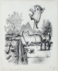 Books:Original Art, Finished Pen and Ink Illustration for Tucker's Countrysideby George Selden. Measures 13.75 x 11 inches. Som...