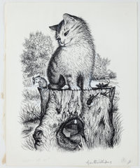 Finished Pen and Ink Illustration for Tucker's Countryside by George Selden. Measure