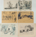 Miscellaneous:Ephemera, Garth Williams: Collection of Original Sketches, circa1930s.... (Total: 76 Items)