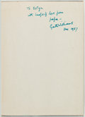 Books:Children's Books, Garth Williams Inscribed Copy of Natalie Savage Carlson's TheHappy Orpheline Signed....