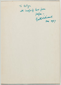 Garth Williams Inscribed Copy of Natalie Savage Carlson's The Happy Orpheline Signed
