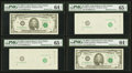 Missing Face Printing Pair with Bookends. Fr. 1980-F $5 1988A Federal Reserve Notes