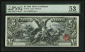 Large Size:Silver Certificates, Fr. 270 $5 1896 Silver Certificate PMG About Uncirculated 53.. ...