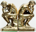Books:Furniture & Accessories, . [Bookends]. Matching Pair of Rodin's The Thinker. Stamped1928, though probably later. Mild rubbing to finish.... (Total: 2Items)