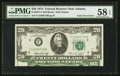 Error Notes:Foldovers, Fr. 2071-F $20 1974 Federal Reserve Note. PMG Choice About Unc 58EPQ.. ...