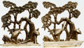 """Books:Furniture & Accessories, [Bookends]. Matching Pair of Solid Brass Crane Bookends. Ca. 1970s.Each measures 6"""" tall x 3.25"""" wide x 4.75"""" deep. Labele... (Total:2 Items)"""