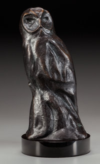 KENT ULLBERG (American, b. 1945) Nocturne Bronze with brown patina 14-1/2 inches (36.8 cm) high o