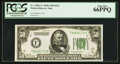 Small Size:Federal Reserve Notes, Fr. 2101-F $50 1928A Dark Green Seal Federal Reserve Note. PCGS Gem New 66PPQ.. ...