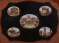 Paintings, AN ITALIAN MICROMOSAIC PLAQUE, circa 1875. 10-1/4 x 12-1/4 inches (26.0 x 31.1 cm) (frame). ...
