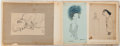 Books:Original Art, Scrapbook Containing Miscellaneous Drawings by Williams. Ca. 1930s. Most are signed by Williams. Scrapbook measures 14.5...
