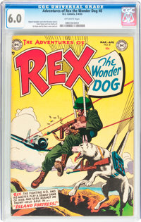 Adventures of Rex the Wonder Dog #8 (DC, 1953) CGC FN 6.0 Off-white pages