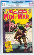 Golden Age (1938-1955):War, All-American Men of War #8 (DC, 1953) CGC VF- 7.5 Off-whitepages....